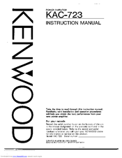 kenwood kac m1824bt user manual