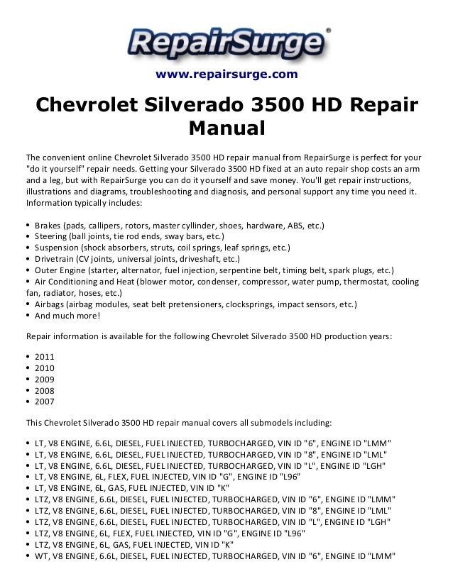 2007 silverado owners manual online